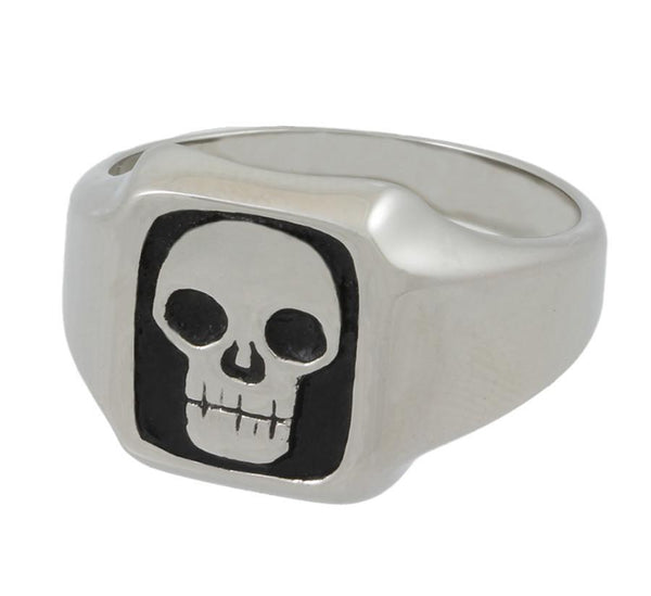 Stainless Steel Square Skull Ring