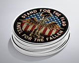 "Battlefield Cross Stand For The Flag 4"" Decal"