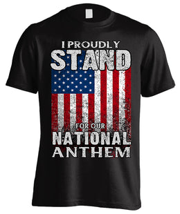 I Proudly Stand For Our National Anthem (Front Print)
