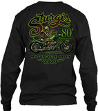 2020 Sturgis Motorcycle Rally Green Skeleton - 80th Anniversary