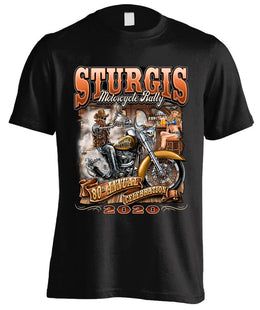 2020 Sturgis Motorcycle Rally Wild West - 80th Anniversary (Front Print)