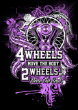 T-shirt - 2 Wheels Move The Soul