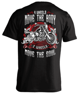 T-shirt - 2 Wheels Move The Soul (Mens)