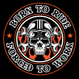 T-shirt - Born To Ride, Forced To Work