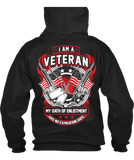T-shirt - I Am A Veteran - Flag & Guns