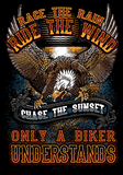 T-shirt - Race The Rain, Ride The Wind (Front Print)