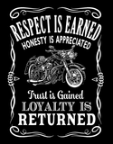 T-shirt - Respect Is Earned Loyalty Is  Appreciated