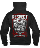 T-shirt - Respect Is Earned Skull & Engine
