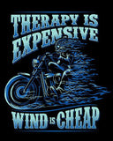 T-shirt - Therapy Is Expensive, Wind Is Cheap (Front Print)