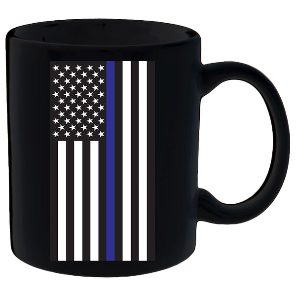 Thin Blue Line American Flag Mug