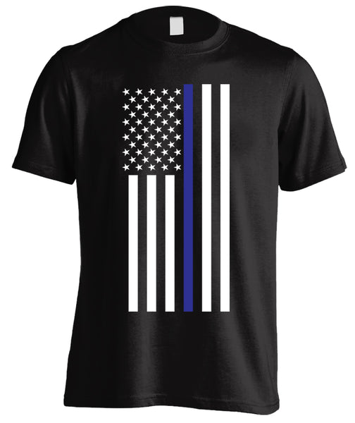 Thin Blue Line American Flag T-shirt
