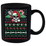 Ugly Christmas Skull Motorcycle Mug