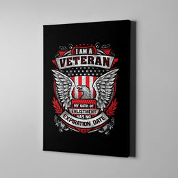 I Am A Veteran Eagle Canvas Art