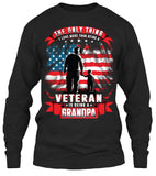 One Thing I Love More Than Being A Veteran Is Being A Grandpa T-shirt (Front Print)