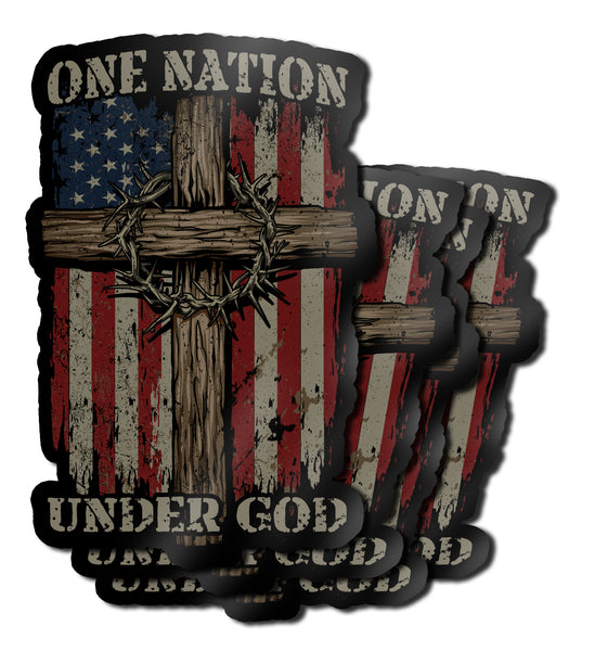 "One Nation Under God 7"" Decal"