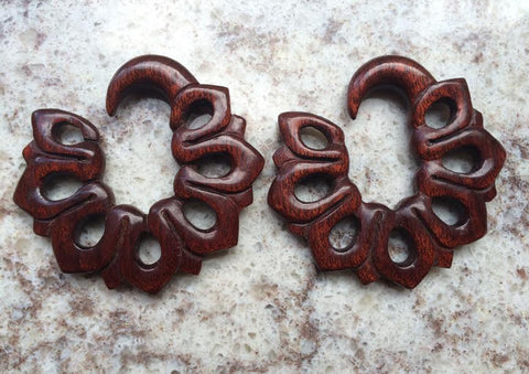 "0g Blood Wood ""Vetiver"" Hangers"