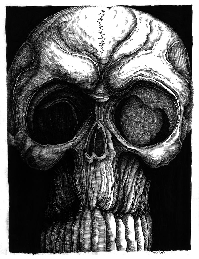 """Skull"" 11x14 print by Andy Ringo"