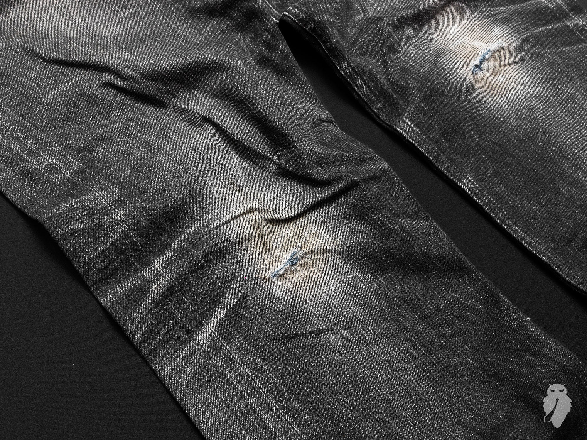 freenote knee fades raw denim