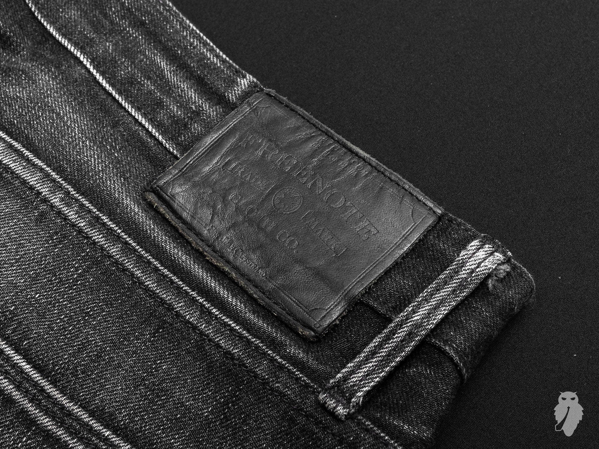 freenote cloth denim leather patch