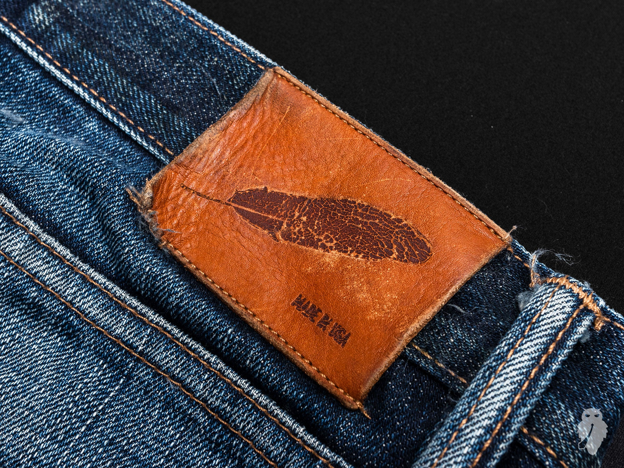 patina on rogue territory stanton leather patch
