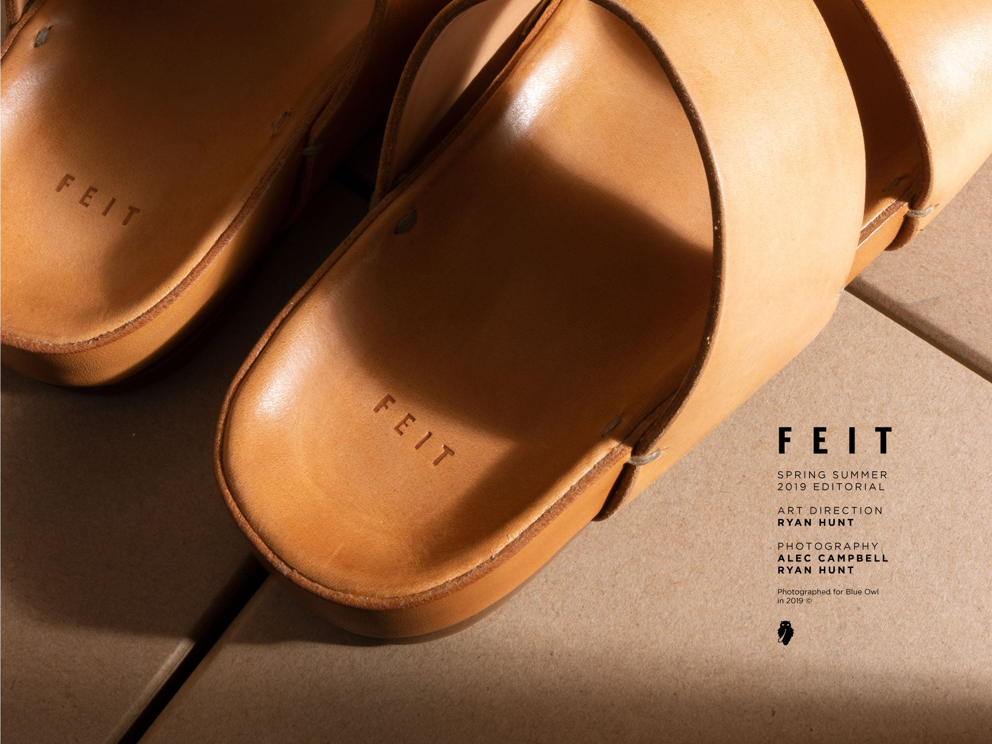 feit natural leather sandal detail of sole