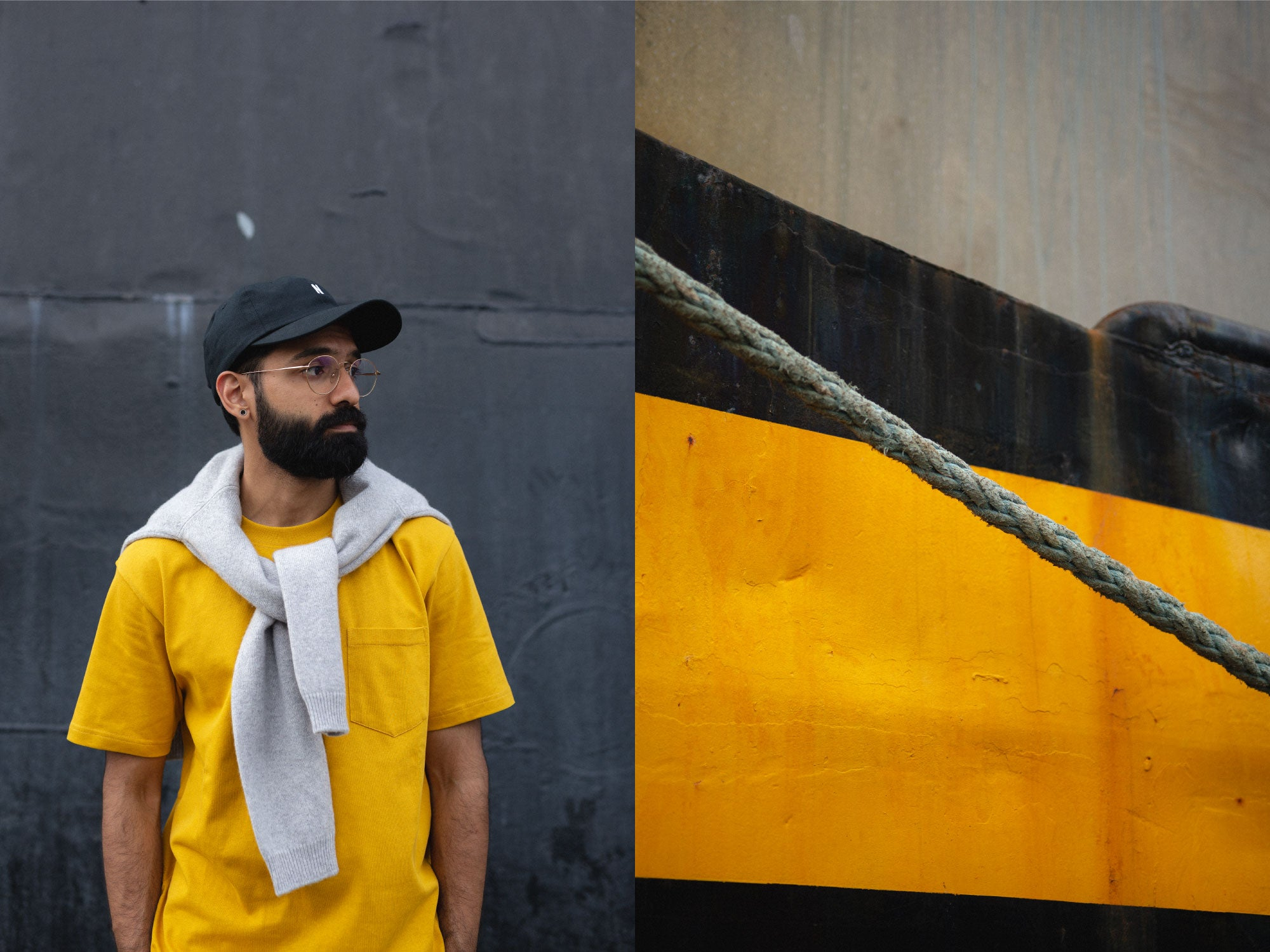 Norse Projects Johannes Pocket T-Shirt in Montpellier Yellow Fisherman's Terminal