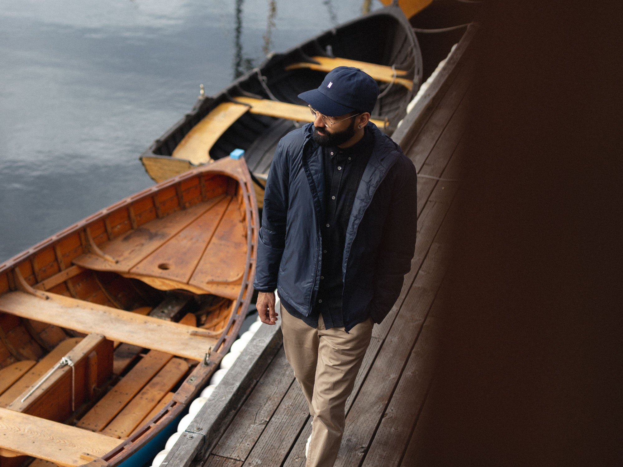 Norse Projects Hugo 2.0 Jacket in Dark Navy Center for Wooden Boats