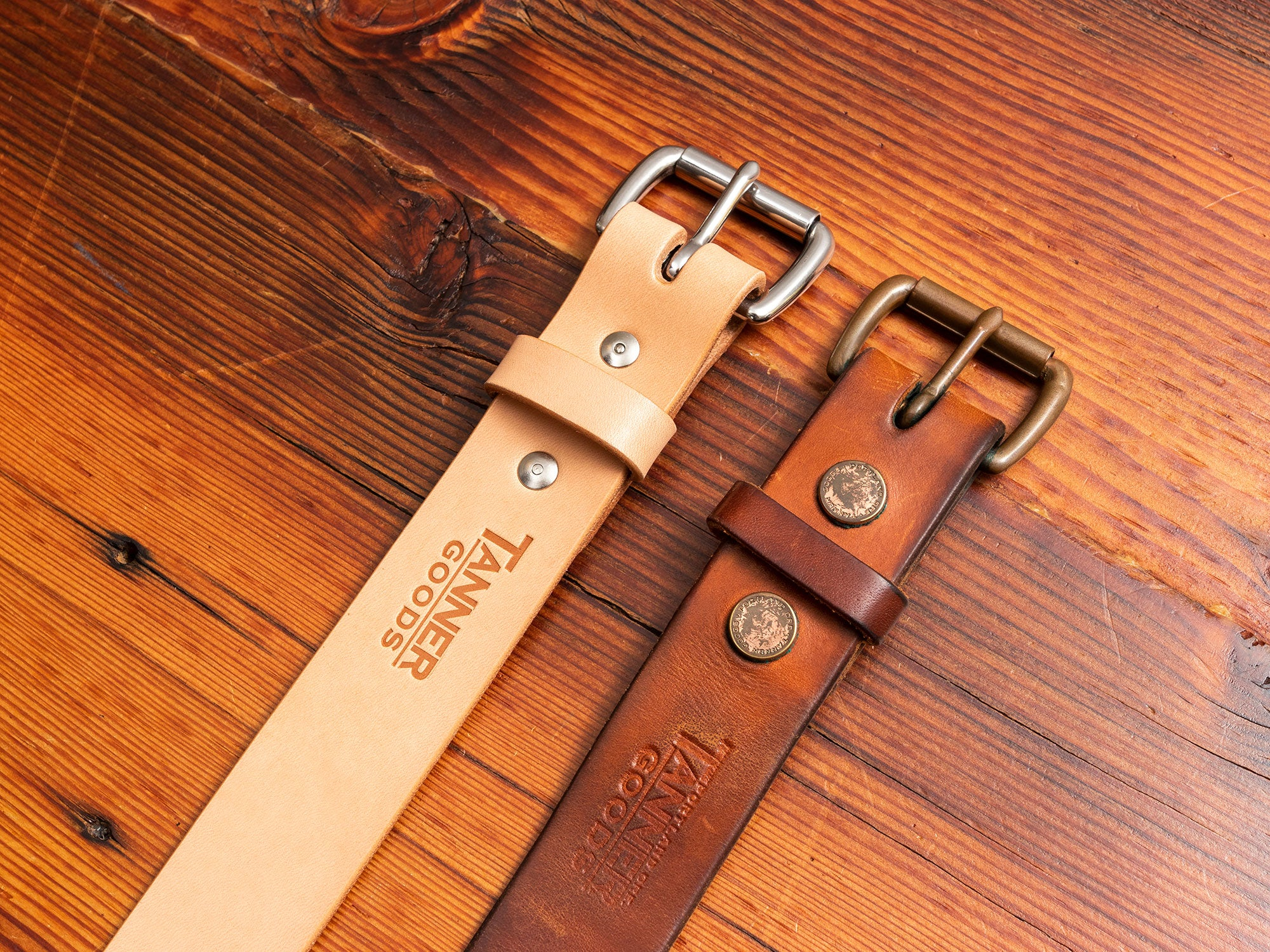 Vegetable Tanned Leather Belt Patina