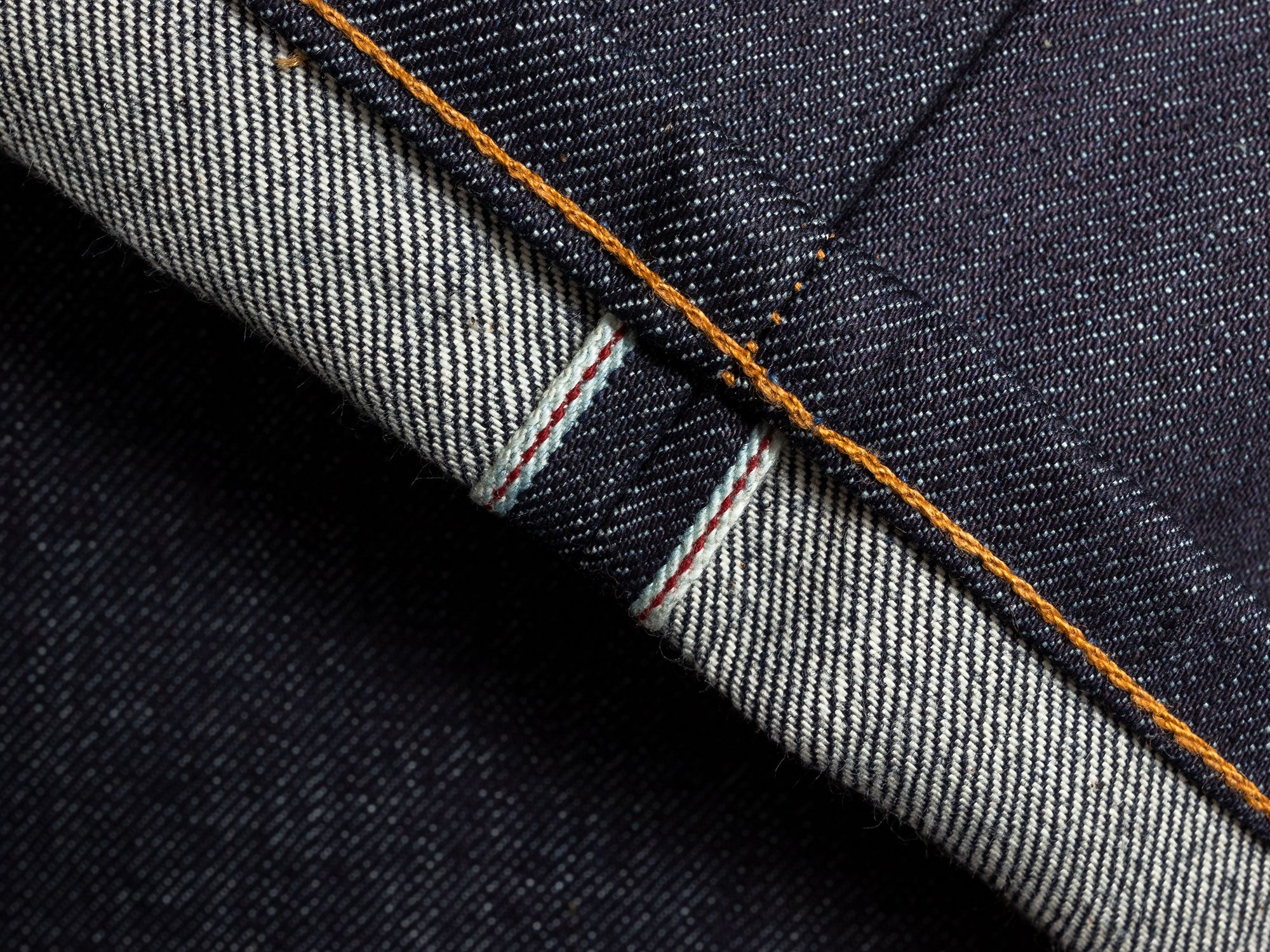 Selvedge denim cuff white weft