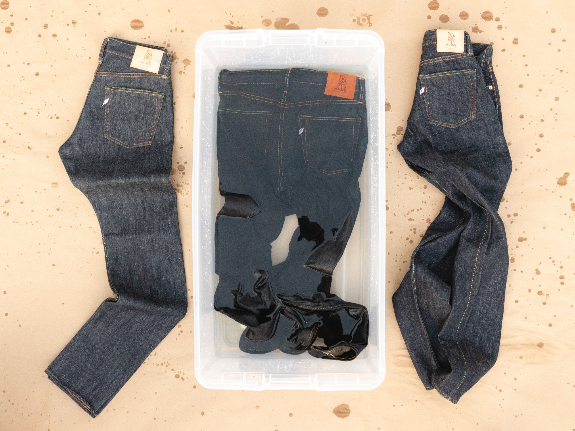 unsanforized denim before and after