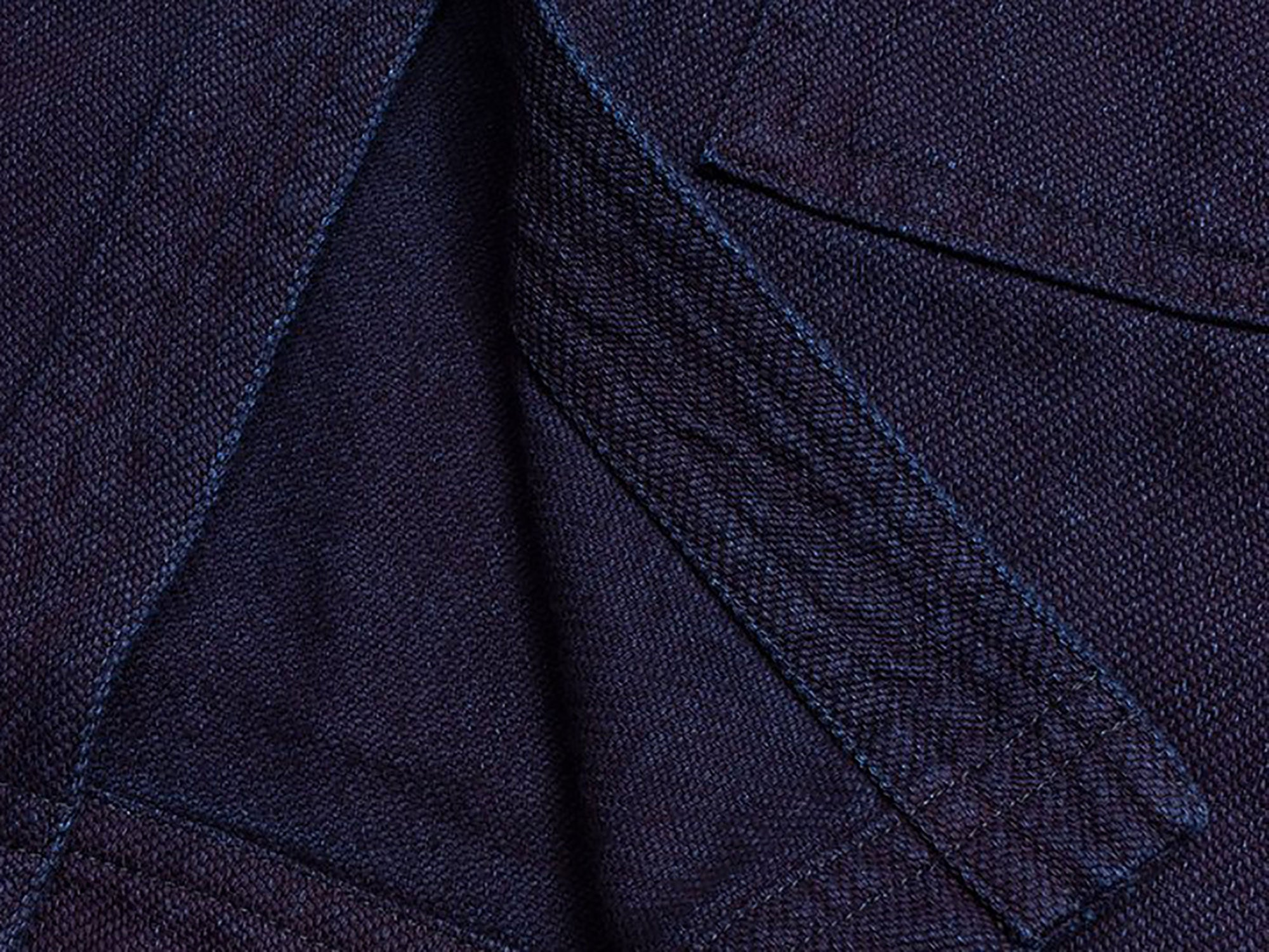 Indigo Sashiko close up