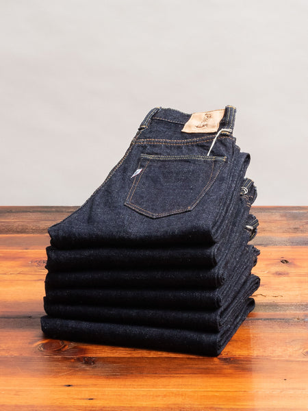 SLB-019 16.5oz Rinsed Selvedge Denim - Relaxed Tapered Fit