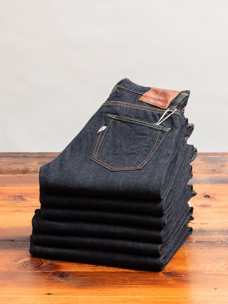 "XX-011 13.5oz ""Left Hand Twill"" Rinsed Selvedge Denim - Slim Tapered Fit"