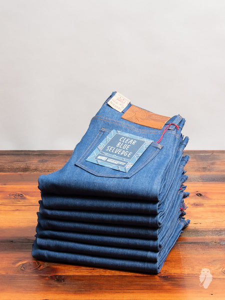 """Clear Blue Selvedge"" 9oz Selvedge Denim - Super Guy Fit"