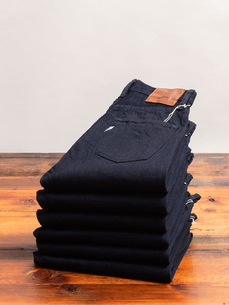 "XX-019-WID ""Deep Indigo"" 14oz Rinsed Selvedge Denim - Relaxed Tapered Fit"