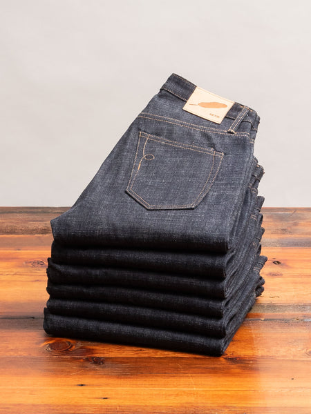 """Cryptic Indigo"" 13.5oz Selvedge Denim in Strong Taper"