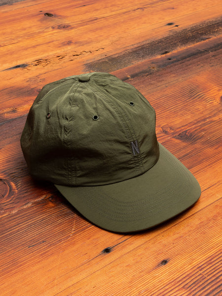 GMD Nylon Sports Cap in Ivy Green