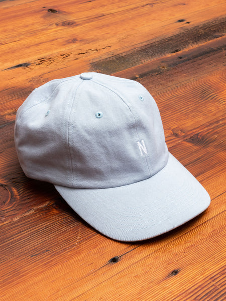 Twill Sports Cap in Dust Blue