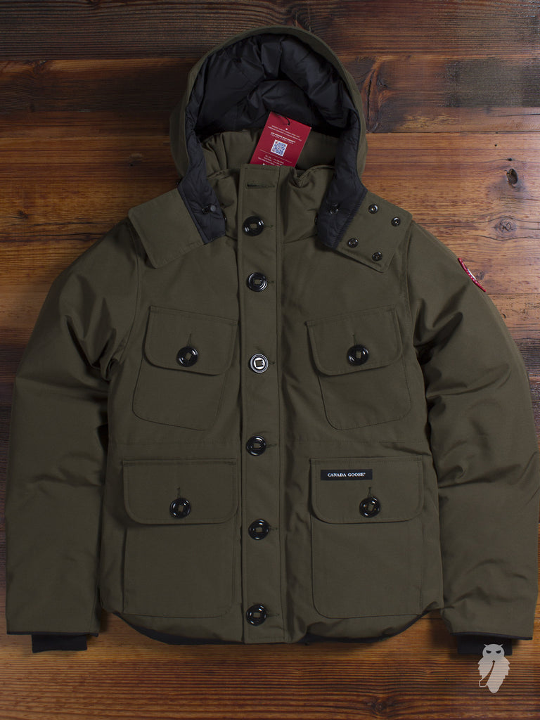 """Selkirk"" Parka in Military Green"
