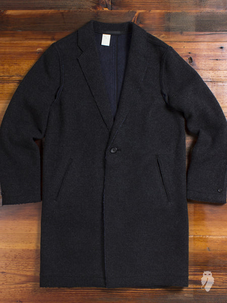 """Chesterfield Coat"" in Charcoal"