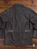 Resin Coated Car Coat in Brown