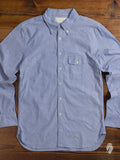 Oxford Cloth Button Down Shirt in Blue