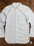 Oxford Cloth Button Down Shirt in White