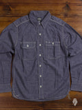 MS033 5oz Selvedge Chambray Work Shirt in Purple