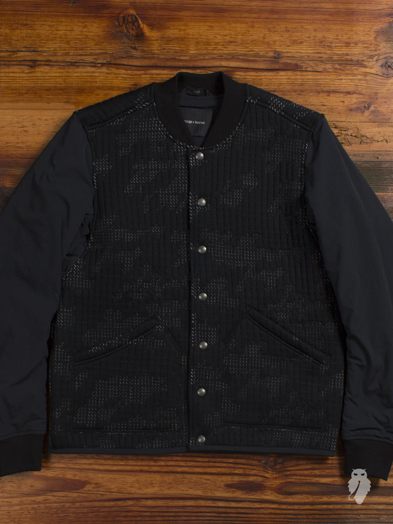 """wings + horns x byBorre"" Bomber Jacket in Black"