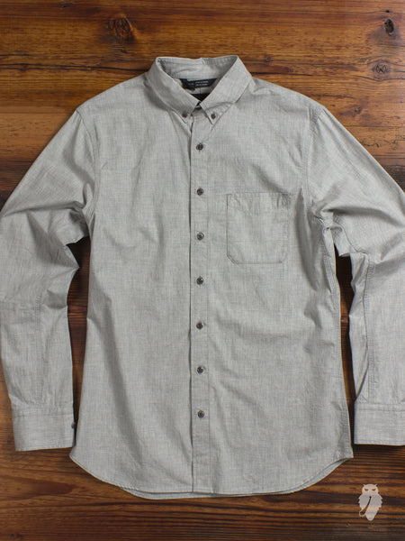 Ripstop Button Down Shirt in Heather Grey