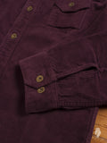 Heavyweight Corduroy Work Shirt in Burgundy