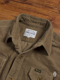 Heavyweight Corduroy Work Shirt in Tan