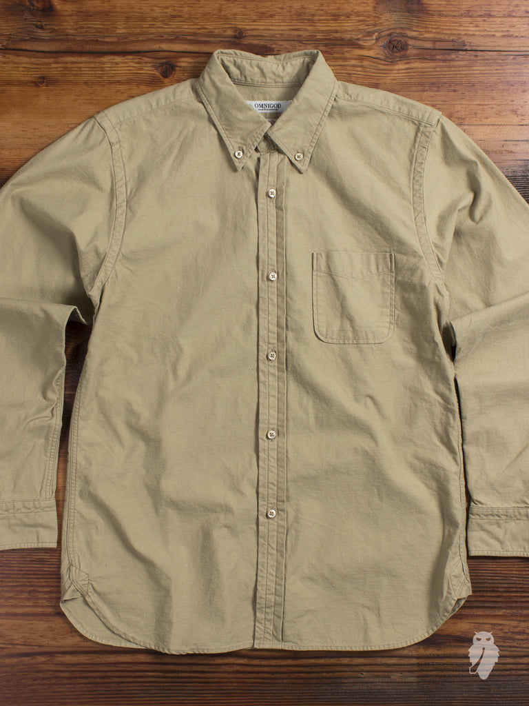 """Nep Twill"" Button Down Shirt in Harvest"
