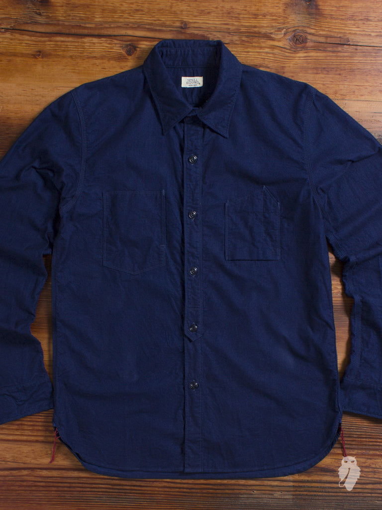 Natural Indigo Yarn Dyed Selvedge Flannel